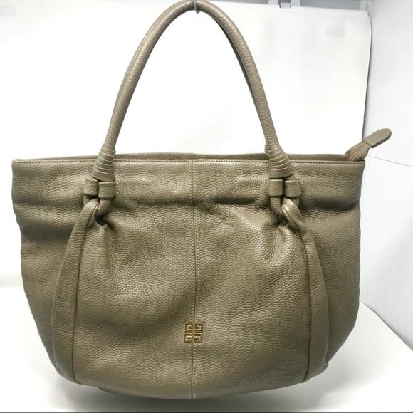Givenchy Handbags - Givenchy Taupe Wrapped Handle Hobo